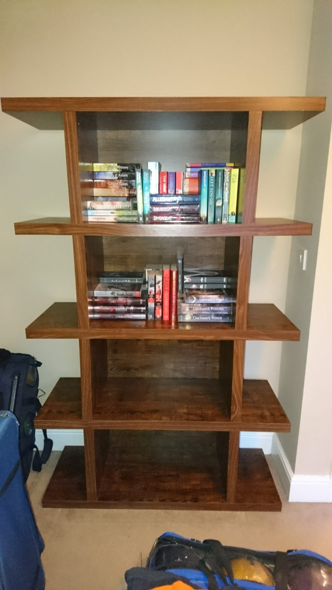 Lyndsey's Book Blog Half full bookcase