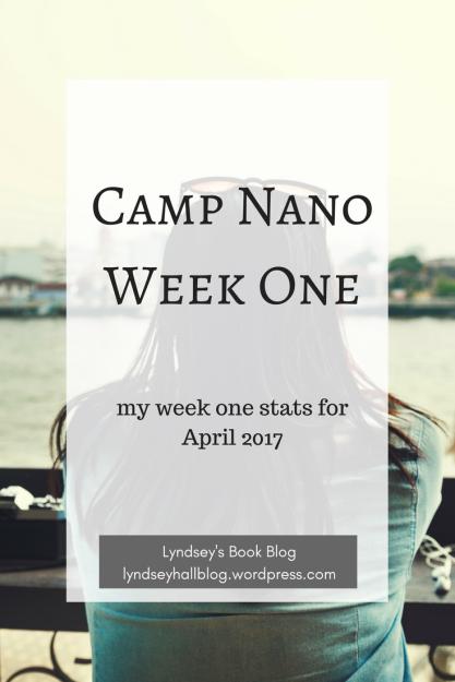 Camp Nano week one stats Lyndsey's Book Blog