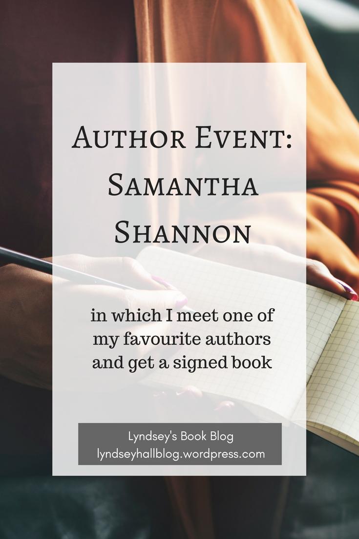 Author Event Samantha Shannon Lyndsey's Book Blog