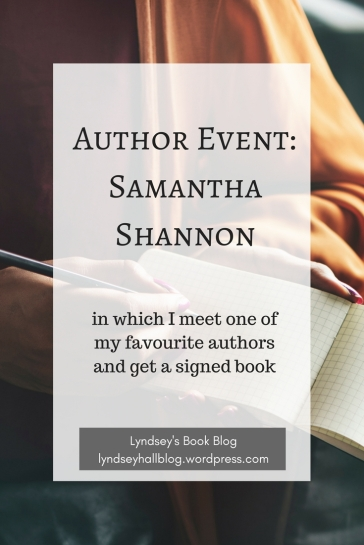 Author Event Samantha Shannon Lyndsey's Book Blog