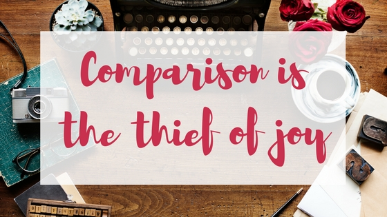 Comparison is the thief of joy Lyndsey's Book Blog