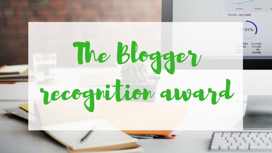 Blogger recognition award Lyndsey's Book Blog